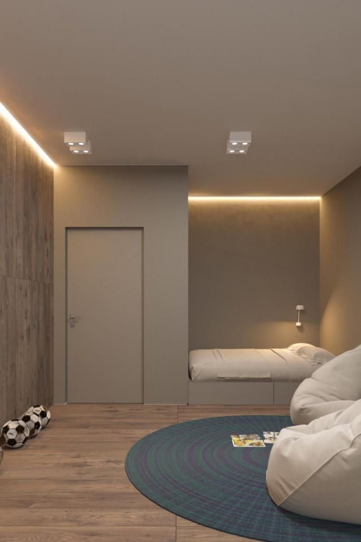 10+ Admirable Dark Grey Home Decor With Warm LED Lighting Design ..