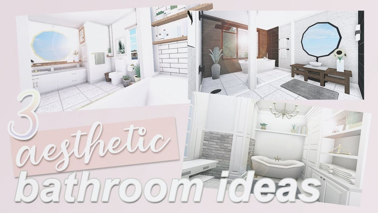 10 AESTHETIC BATHROOM IDEAS | Roblox Bloxburg