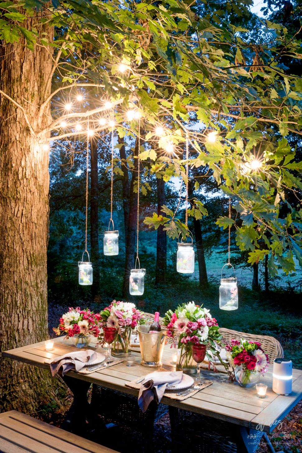 10 Backyard Lighting Ideas - How to Hang Outdoor String Lights - backyard ideas lights