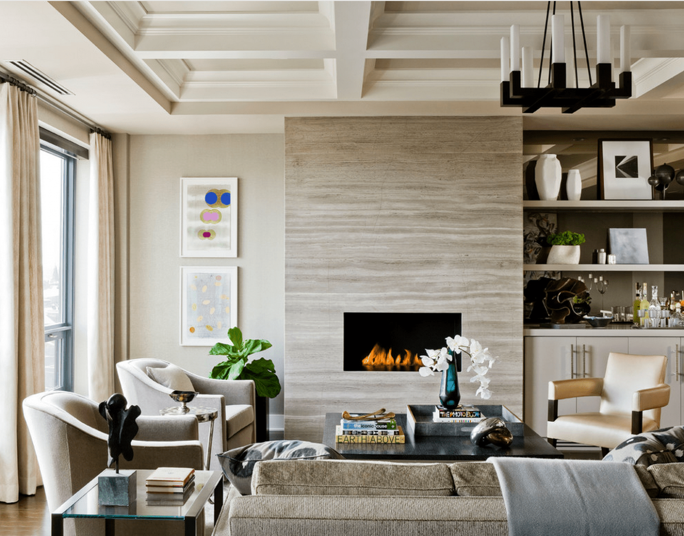 10 Beautiful Living Rooms With Fireplaces - living room ideas around fireplace