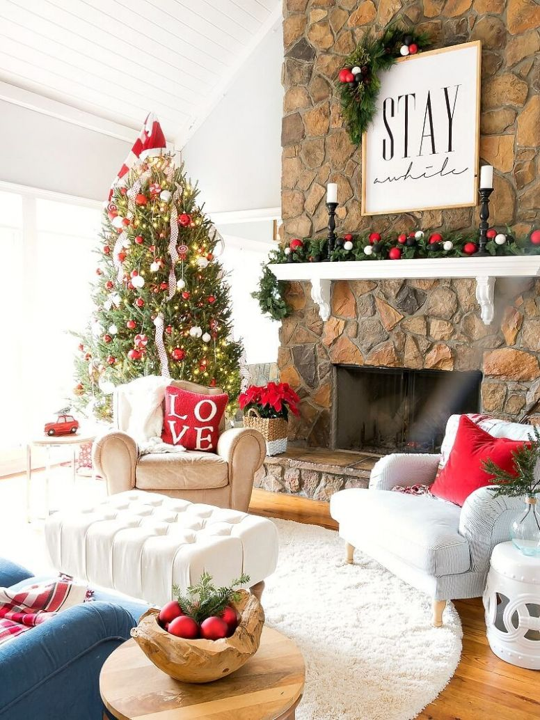 10 Best Christmas Living Room Decor Ideas and Designs for 10