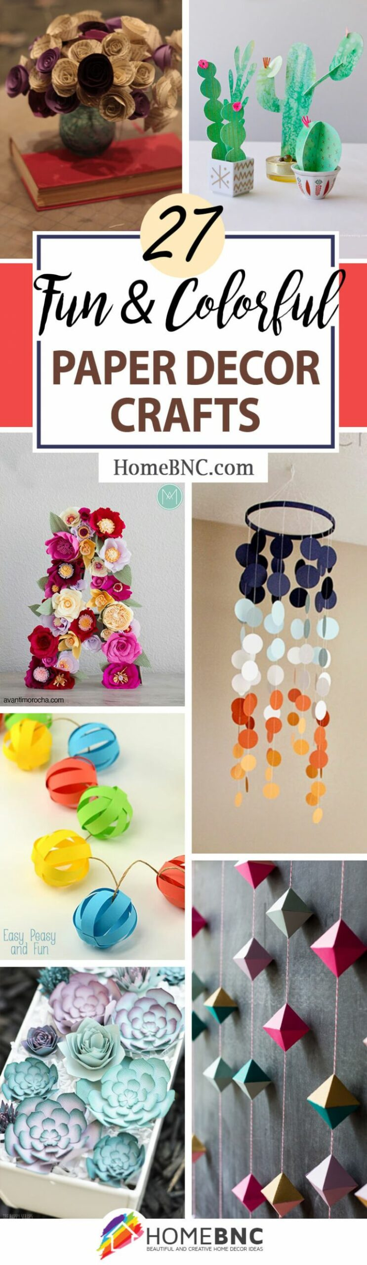 10 Best Paper Decor Crafts (Ideas and Designs) for 10 - home decor crafts