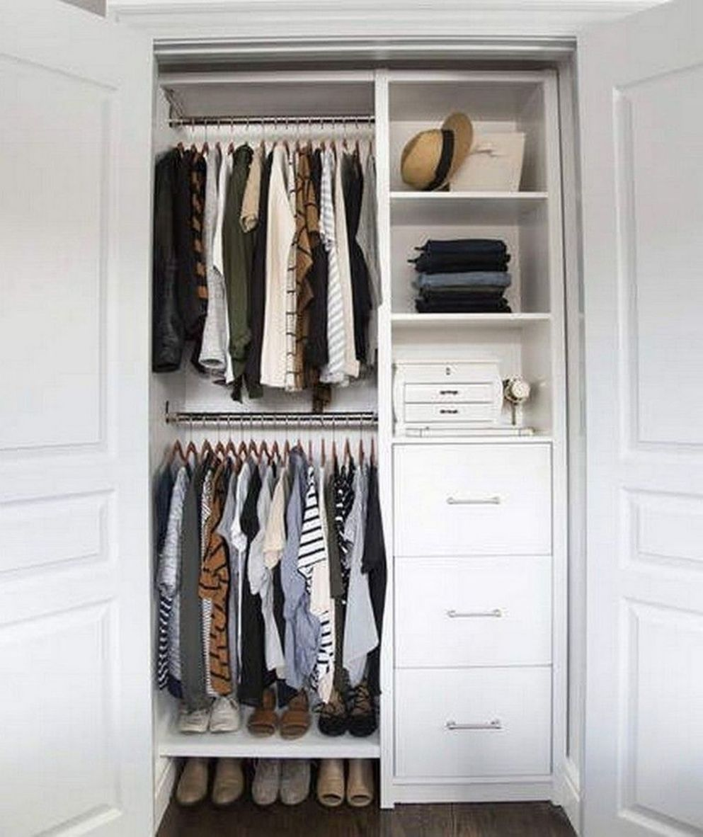 10 Best Ways To Makes Functional Small Closets Ideas | Small ...