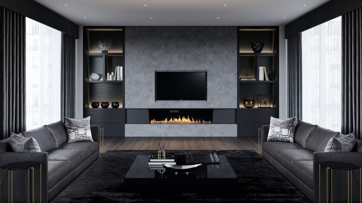 10 Black and Grey Living Room Ideas 10 (Neutral Aspect)