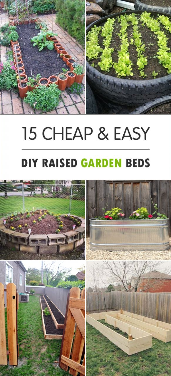 10 Cheap & Easy DIY Raised Garden Beds - garden ideas low cost