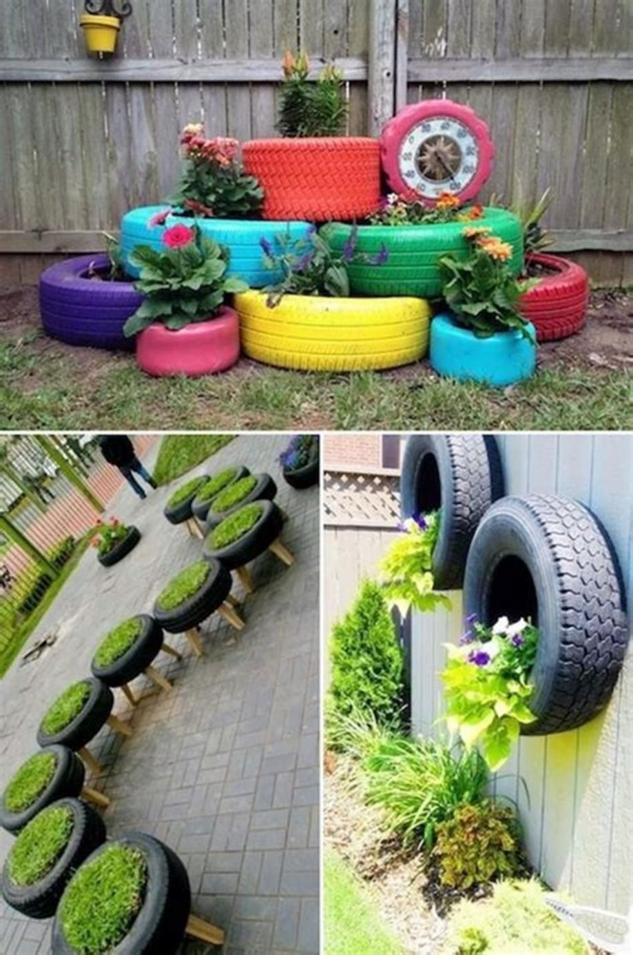 10 Creative DIY Tire Container Gardening Ideas | Garden projects ..