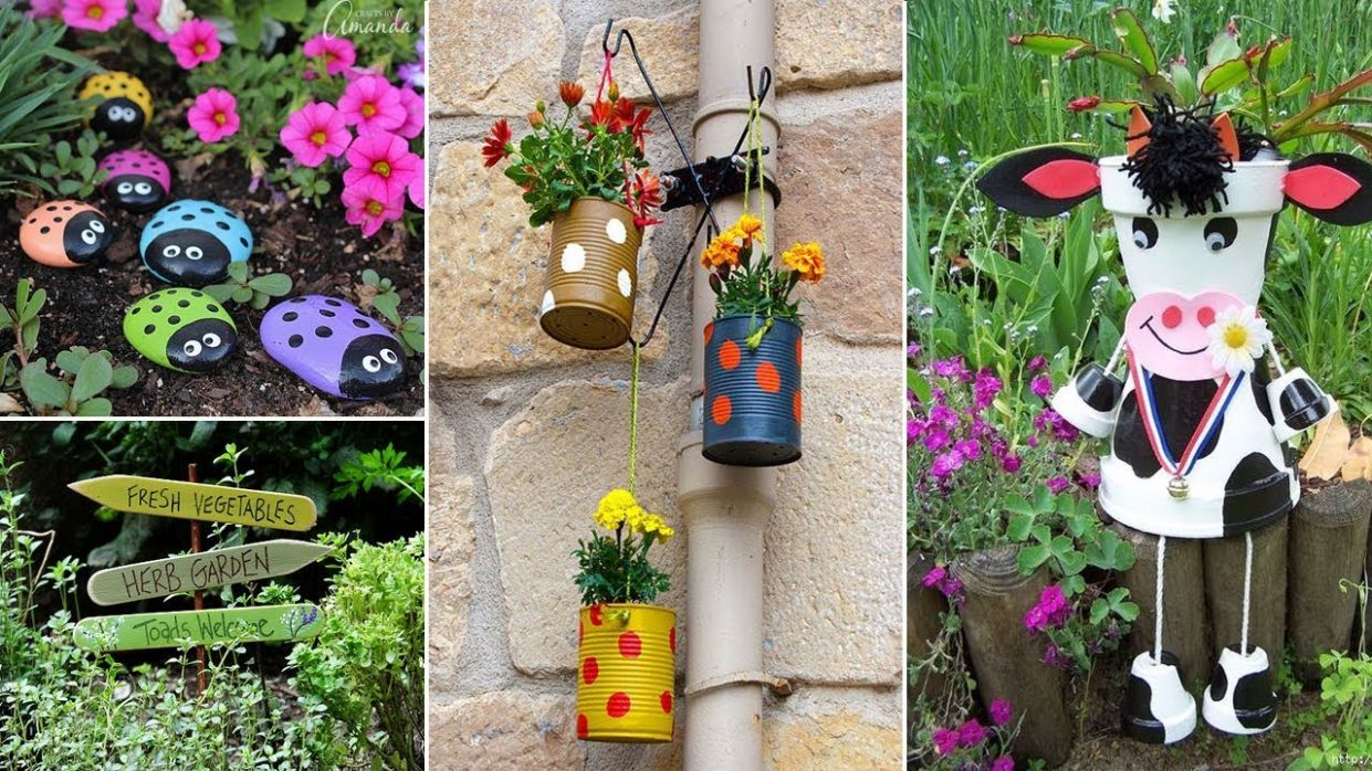 10 Cute And Easy DIY Garden Crafts ideas | DIY Garden