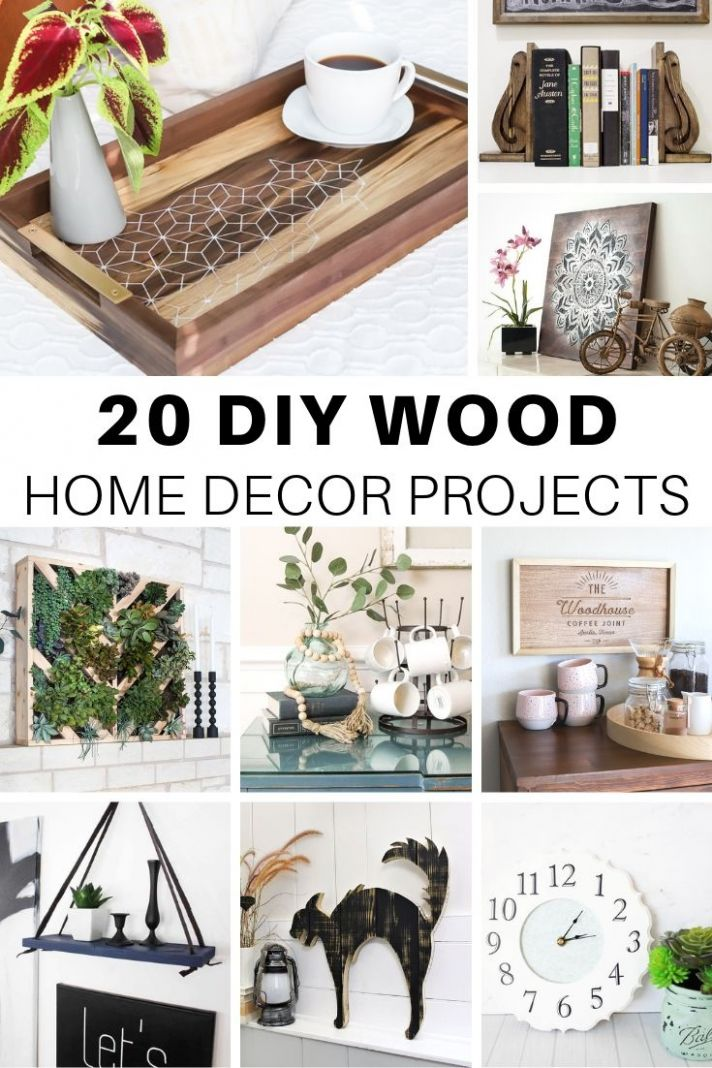 10 Cute DIY Wood Home Decor Projects – The House of Wood - home decor crafts