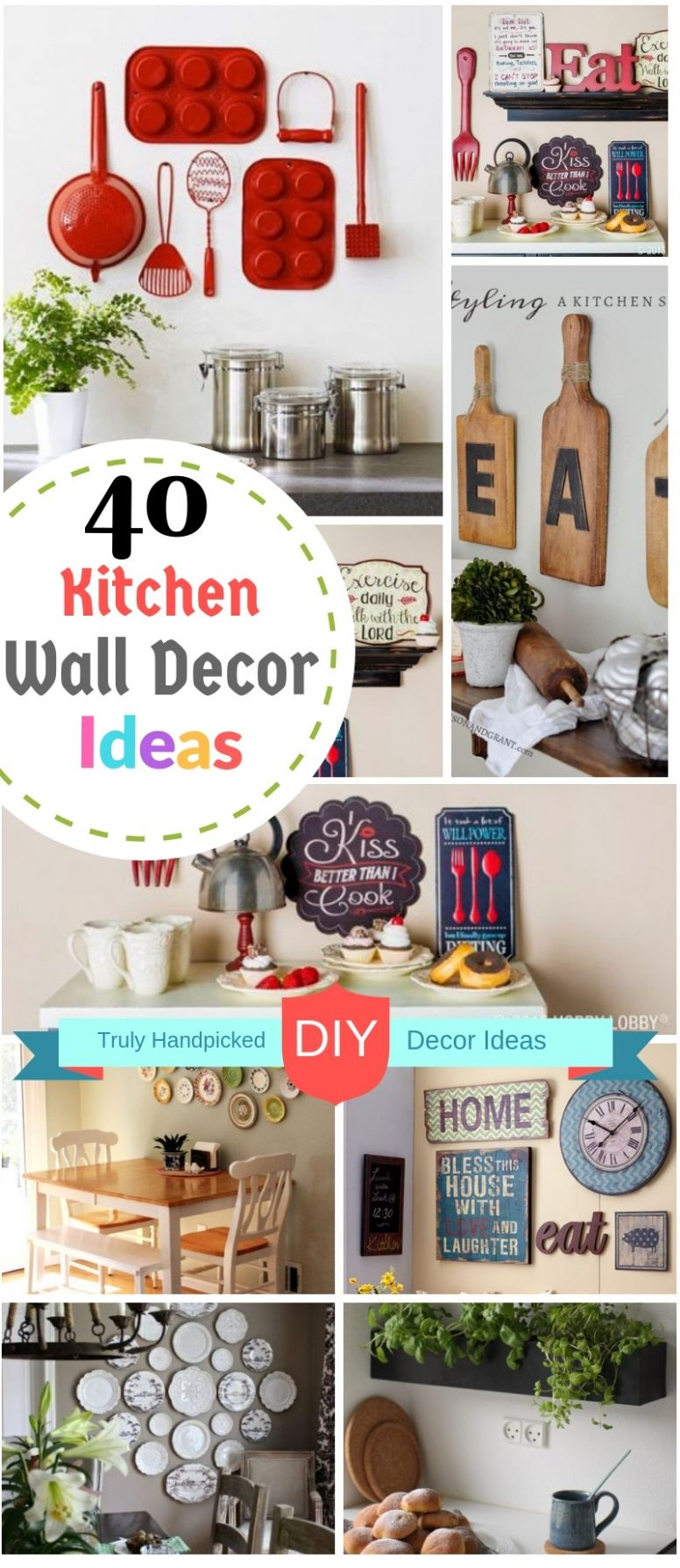 10 DIY Kitchen Wall Decor Ideas: Creative Farmhouse and Modern Decors - kitchen wall decor ideas diy
