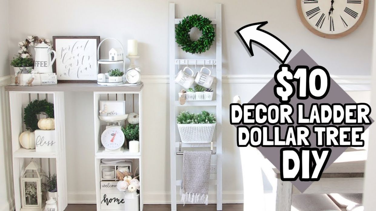 $10 DIY LADDER | DOLLAR TREE DIY | HOME DEPOT DIY - diy room decor home depot