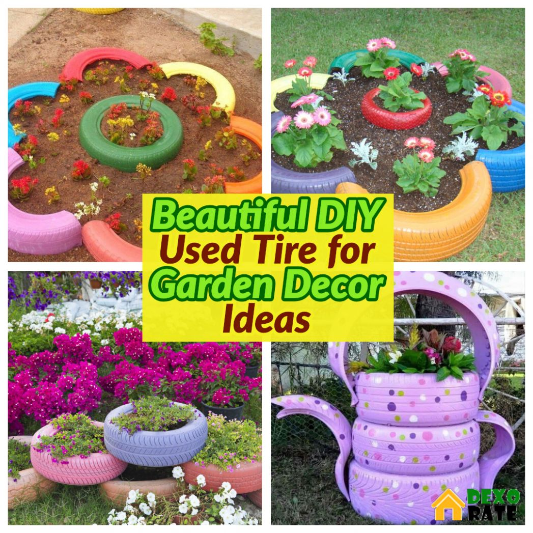 10 Easy And Cheap Beautiful DIY Garden Decor With Used Tire Ideas ..