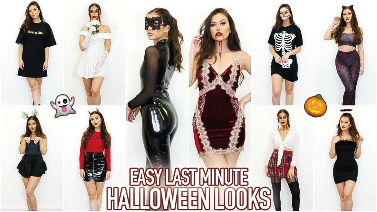 10 EASY LAST MINUTE HALLOWEEN COSTUME IDEAS (ALL MISSGUIDED OUTFITS) AD - halloween ideas normal clothes