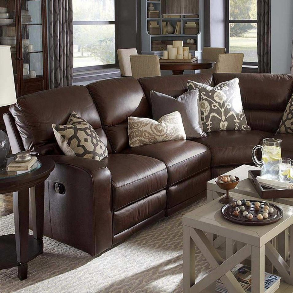 10+ Elegant Living Room Colors Schemes Ideas | Dark brown couch ..
