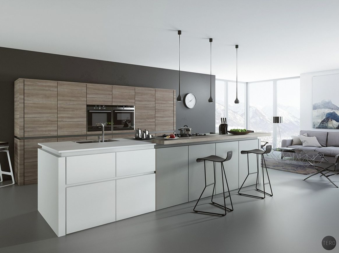 10 Gorgeous Grey and White Kitchens that Get Their Mix Right - kitchen ideas grey floor
