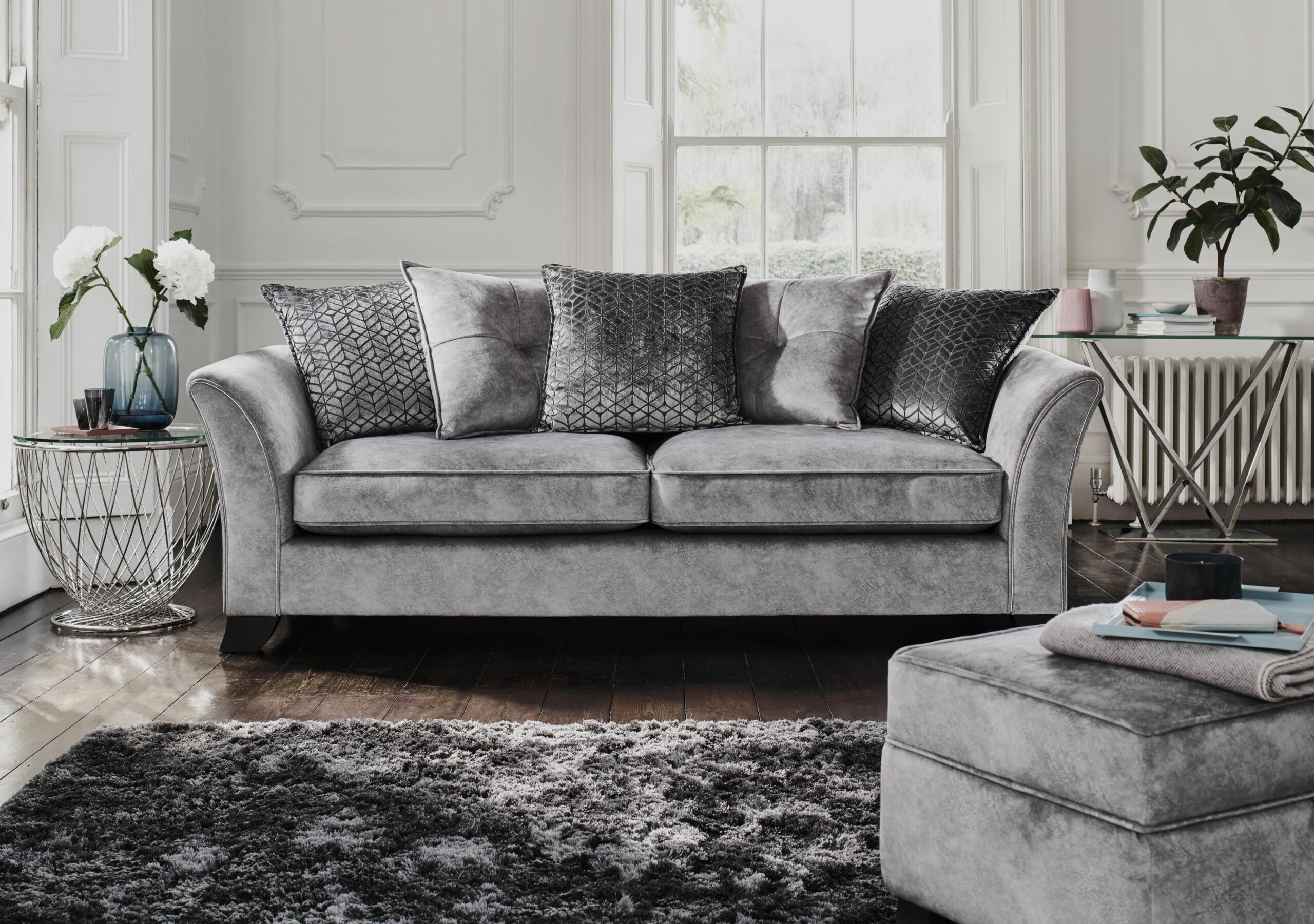 10 grey and blue living room ideas - Furniture Village - Furniture ...