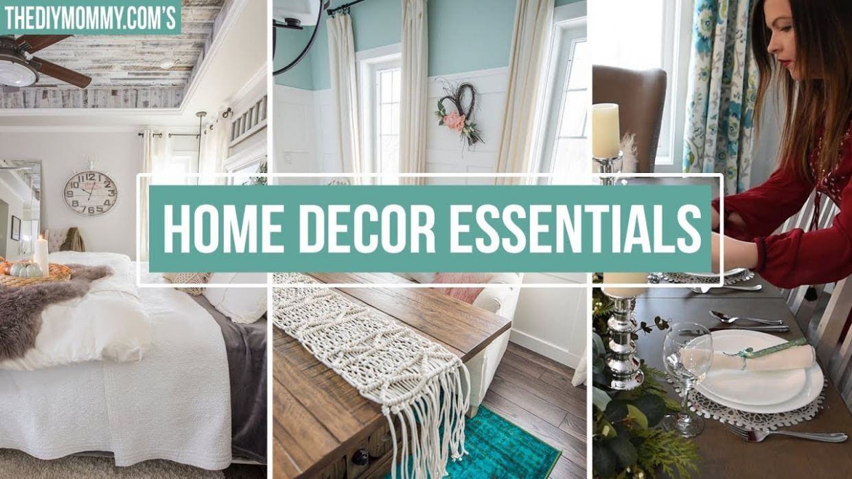 10 HOME DECOR ESSENTIALS YOU NEED | The DIY Mommy