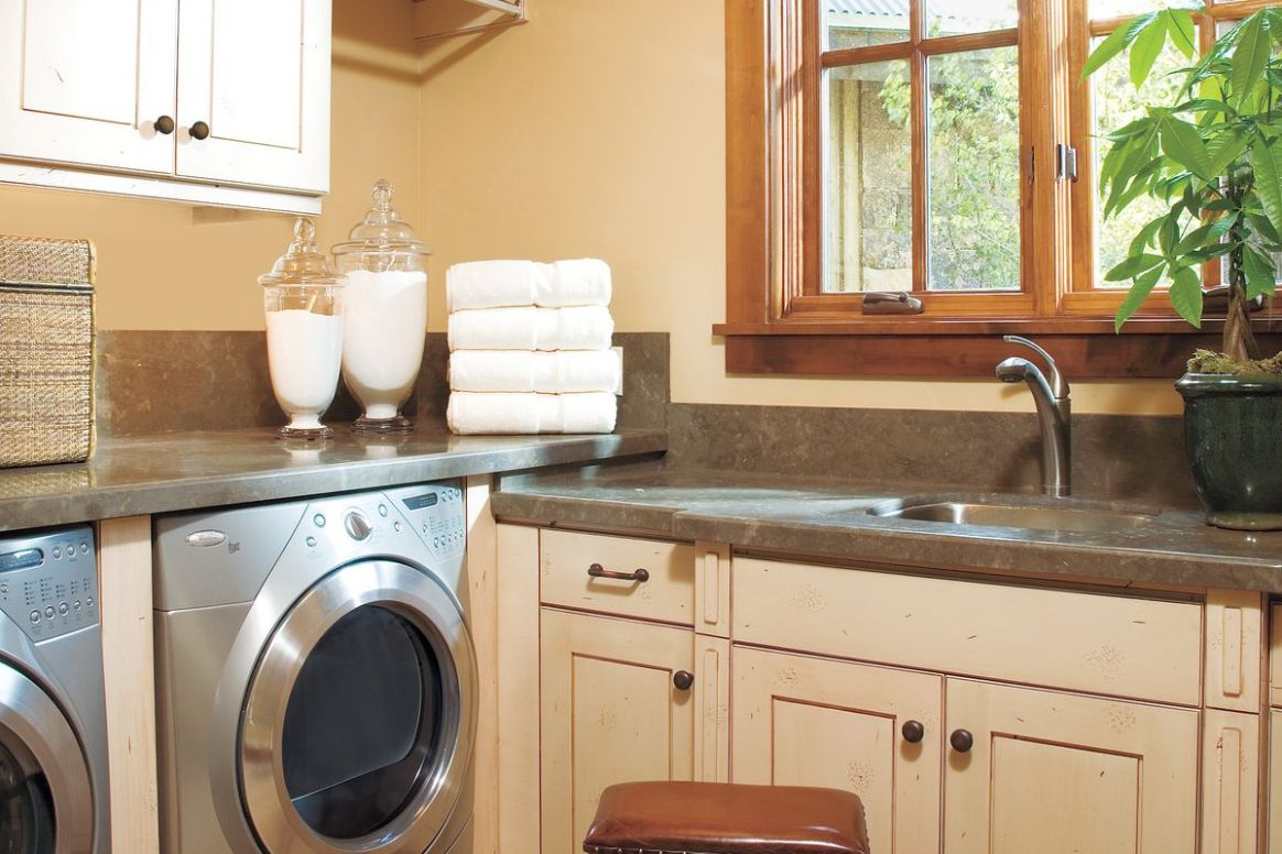 10 Ideas for a Fully Loaded Laundry Room - This Old House - laundry room ideas with top load washer