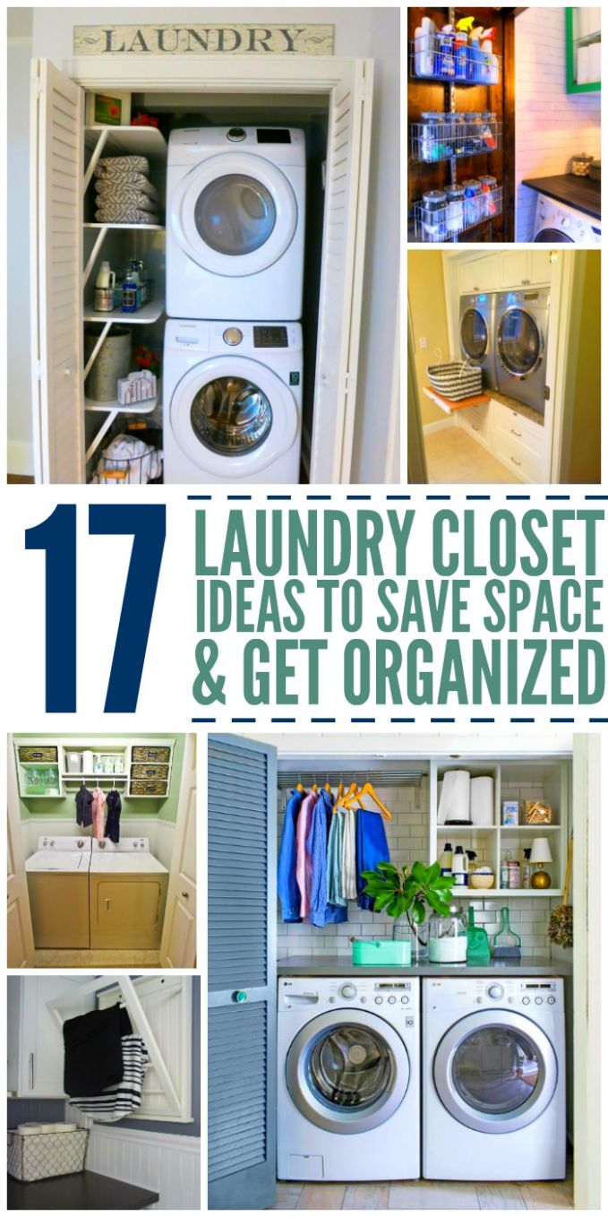 10 Laundry Closet Ideas to Save Space and Get Organized - laundry room ideas closet