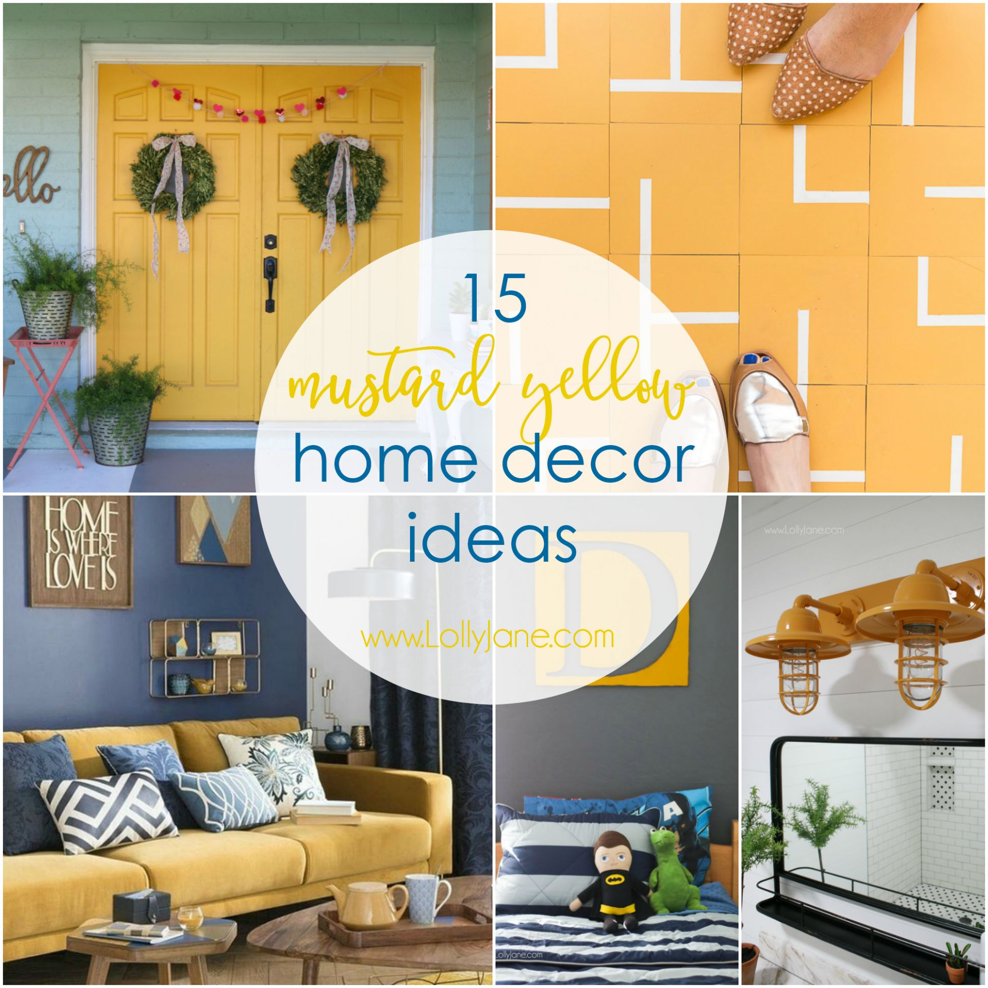 10 mustard yellow home decor ideas - Lolly Jane