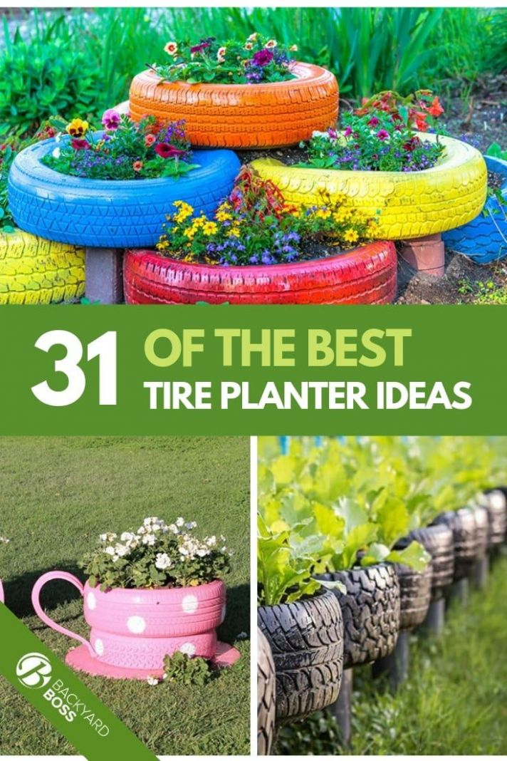 10 Of The Best Tire Planter Ideas | Tire planters, Tire garden ..