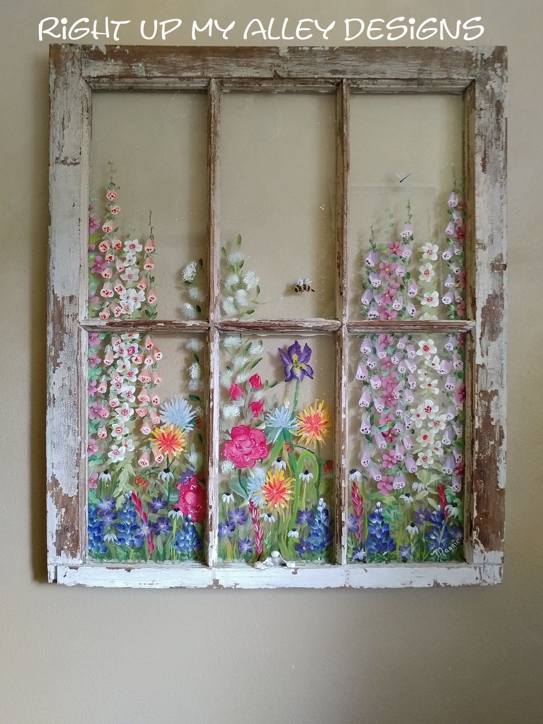 10 Old Painted window ideas from custom orders,ALL SOLD,Window ...