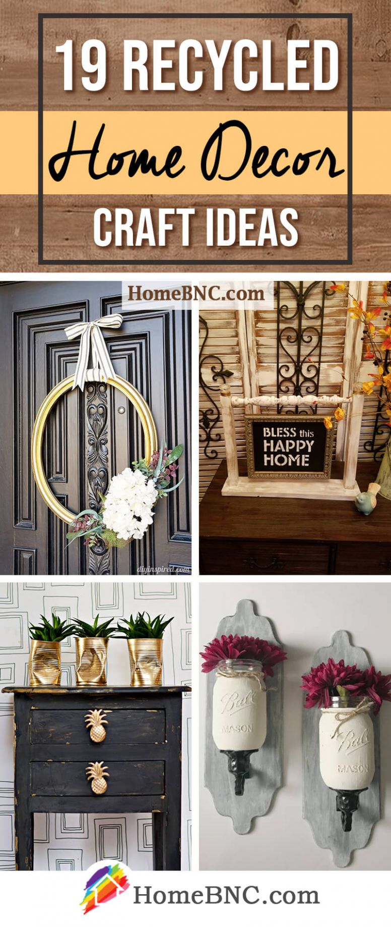 10 Recycled Home Decor Craft Ideas and Projects for 10 - home decor crafts