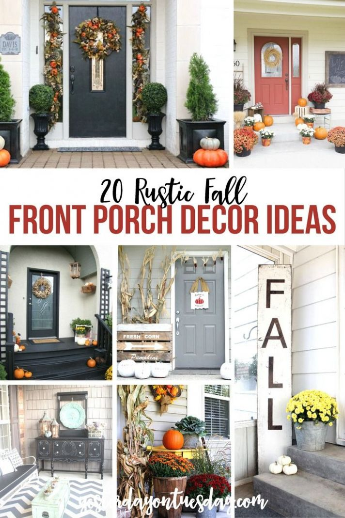10 Rustic Fall Front Porch Ideas | Porch decorating, Fall decor, Decor - front porch decor zara