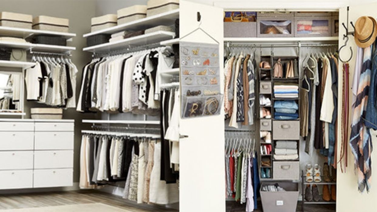 10 Small Closet Organization Ideas - small closet ideas youtube