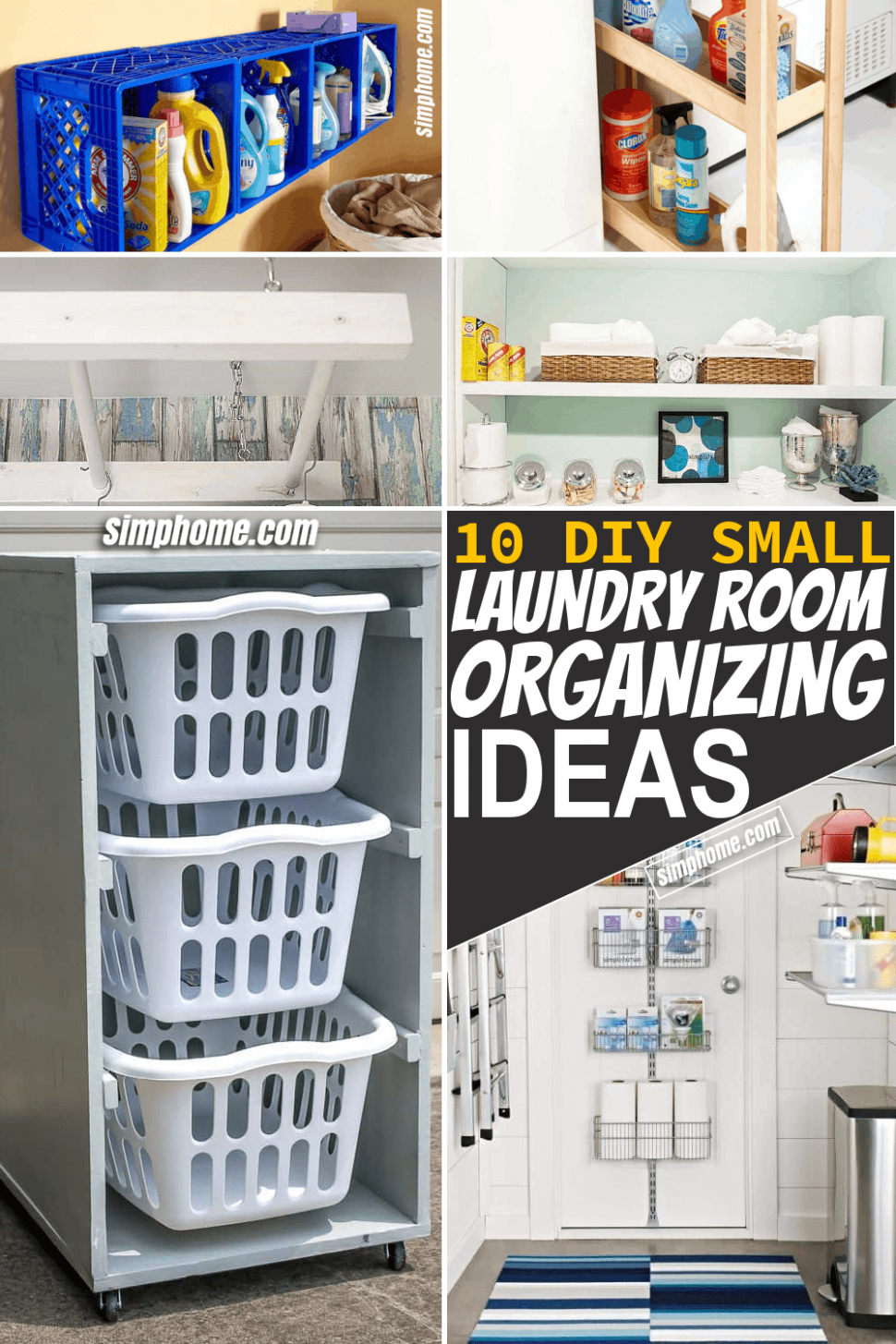10 Small Laundry Room Organization Ideas - Simphome - laundry room organization ideas diy
