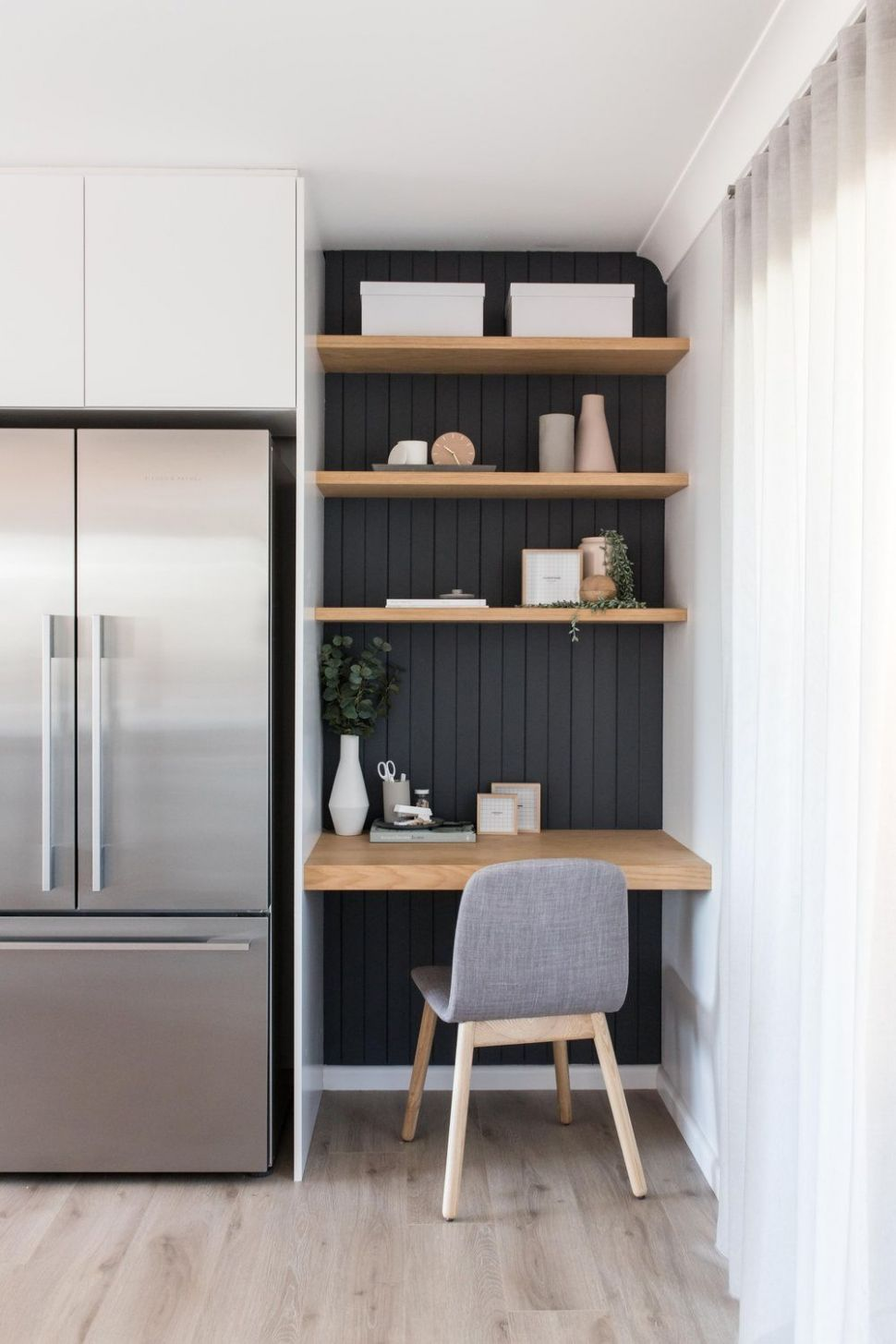 10 Small Space Ideas For Home Office | Kitchen office nook, Small ..