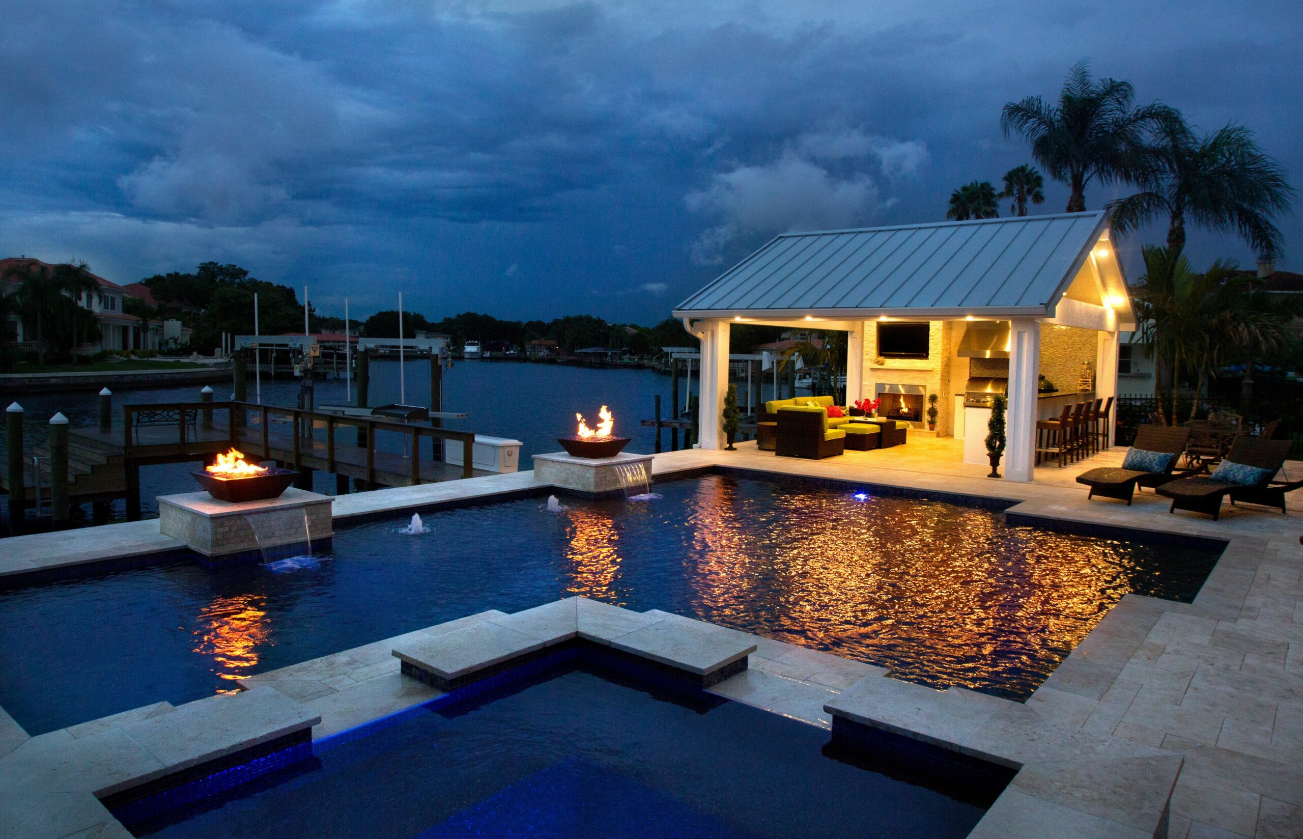 10 Tampa Swimming Pool Deck Ideas - Grand Vista Pools - pool ideas with fire pit