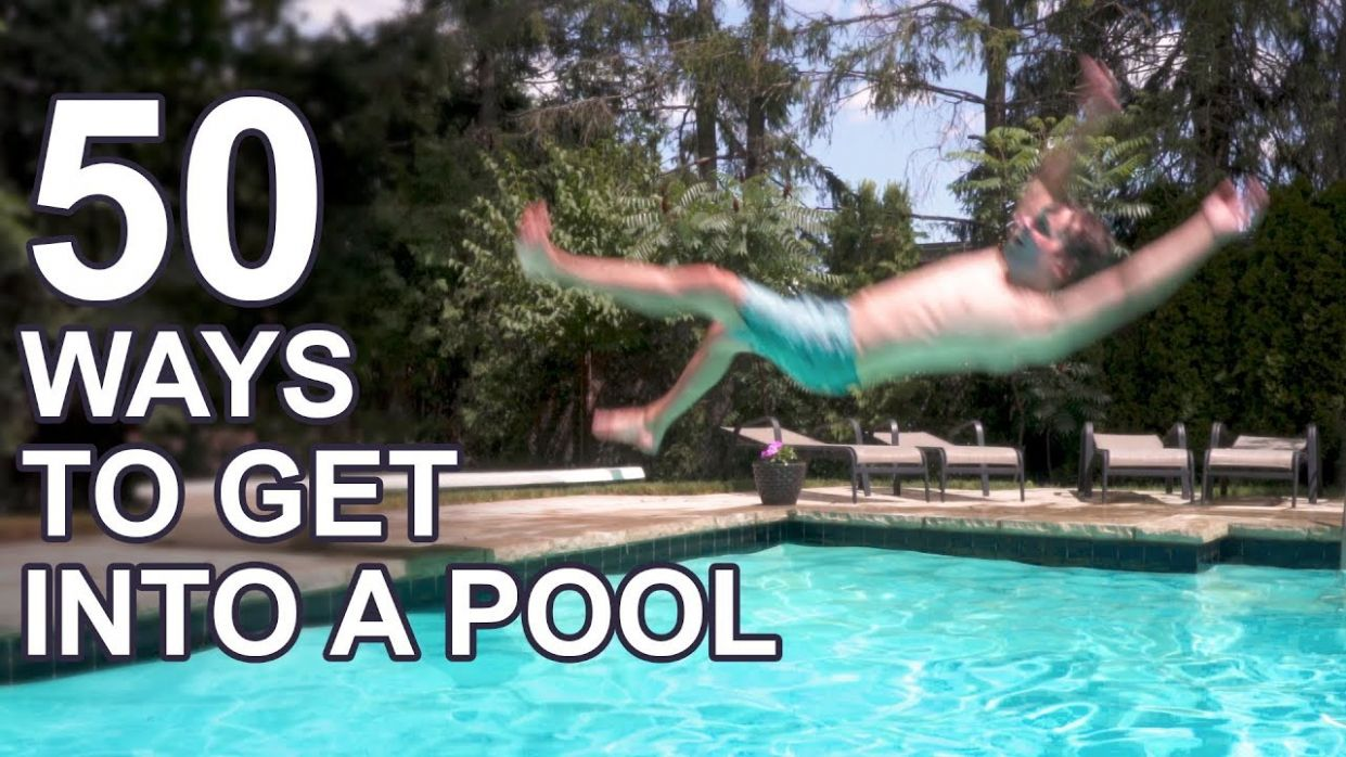10 Ways to Get Into a Pool - pool jump ideas