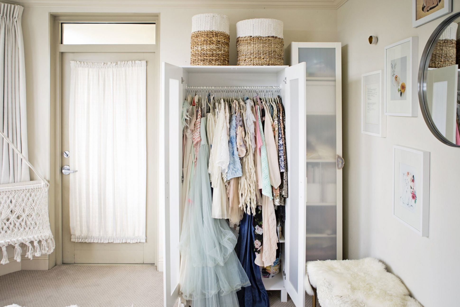 10 Ways to Organize a Bedroom With No Closets | Apartment Therapy - closet ideas for a room with no closet