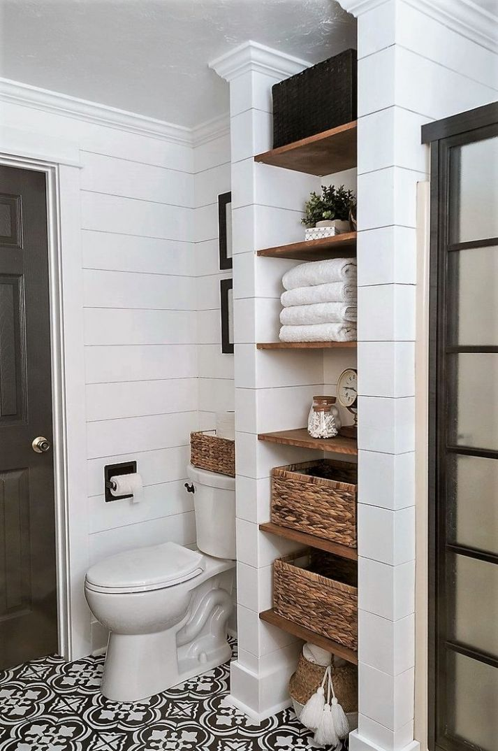 10 Well Organized Built-in Bathroom Shelf And Storage Ideas - closet ideas bathroom