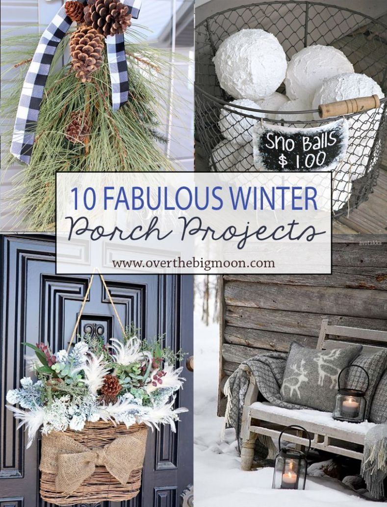 10 Wonderful Winter Front Porch Projects | Winter porch, Winter ..