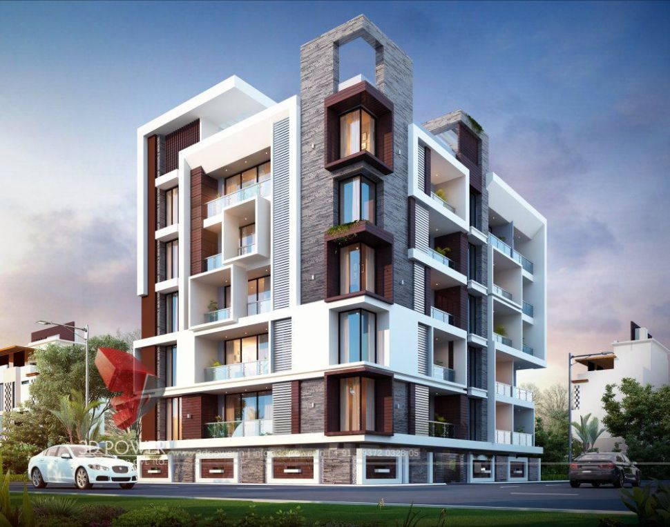 10D Architectural Rendering Of Small Apartment | Modern house ..