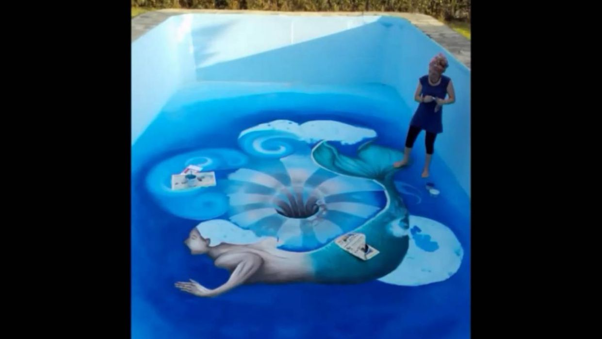 10d Painting! - Swimming pool 10d mural ! - 'A Hole In The Water' by ...
