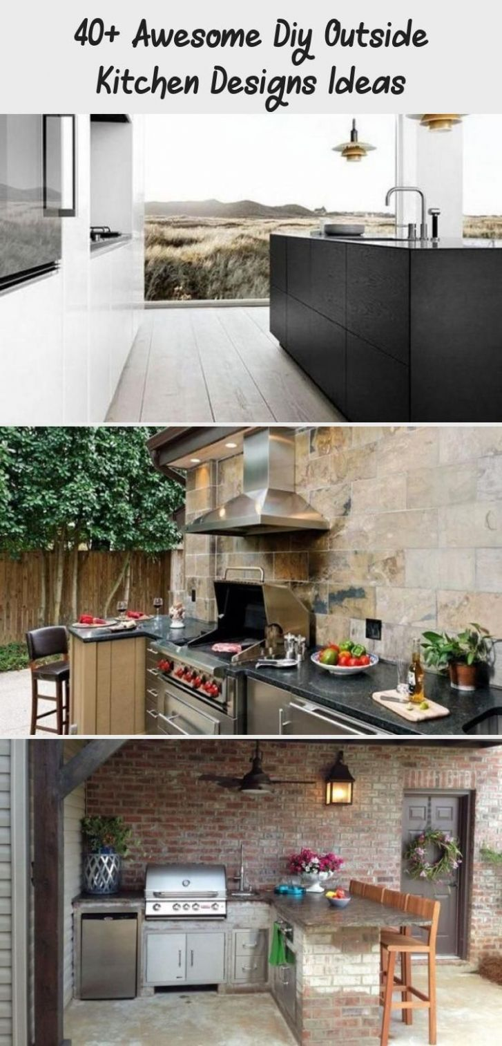 11+ Awesome DIY Outside Kitchen Designs Ideas #kitchens ..