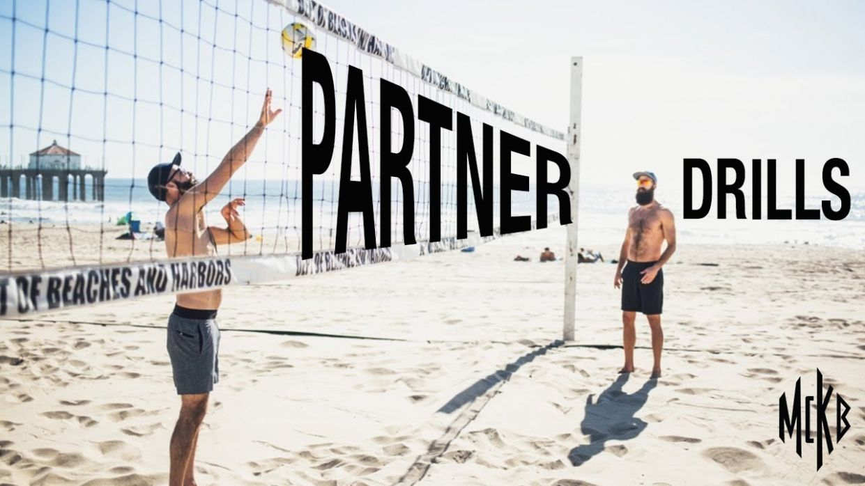 11 Beach Volleyball Drills - With Just Your Partner - backyard volleyball ideas