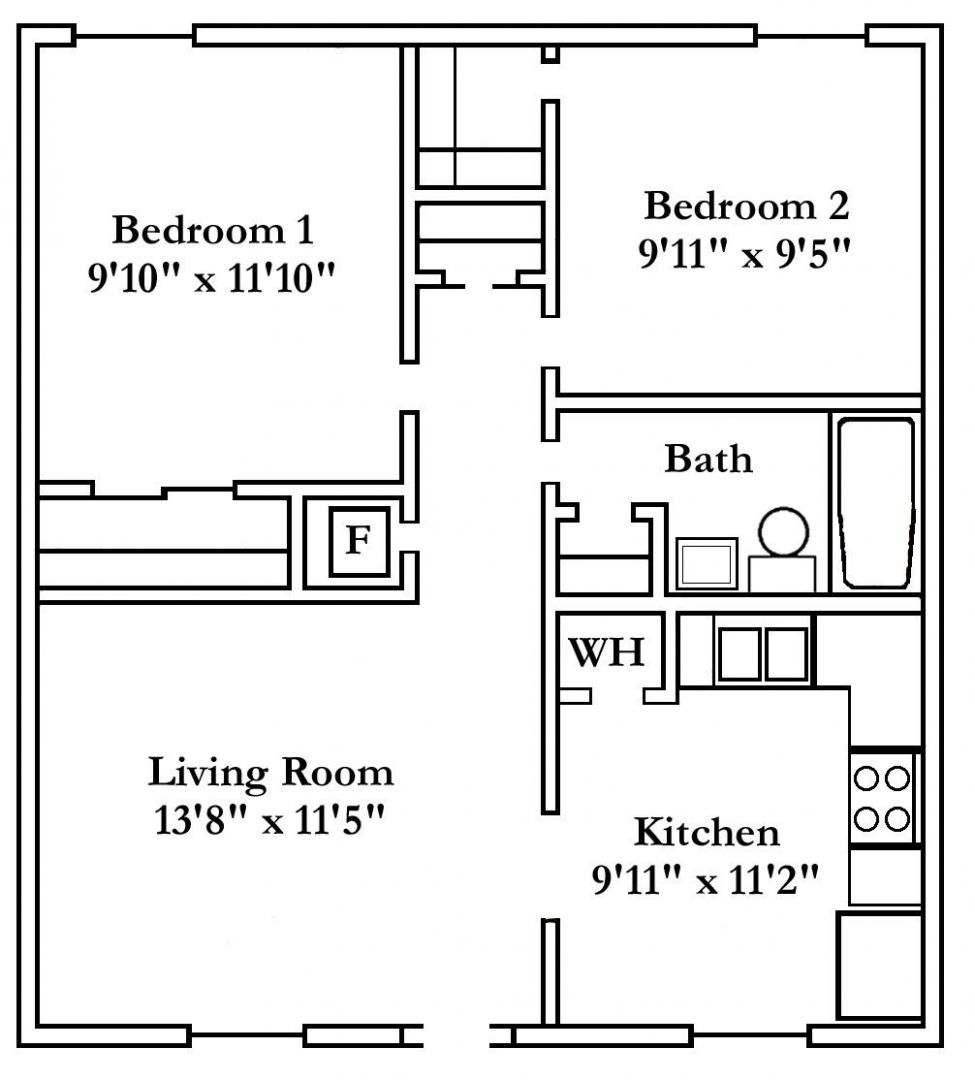 11 Bedroom Apartment Floor Plan   Two-, Three- and Four-Bedroom ..
