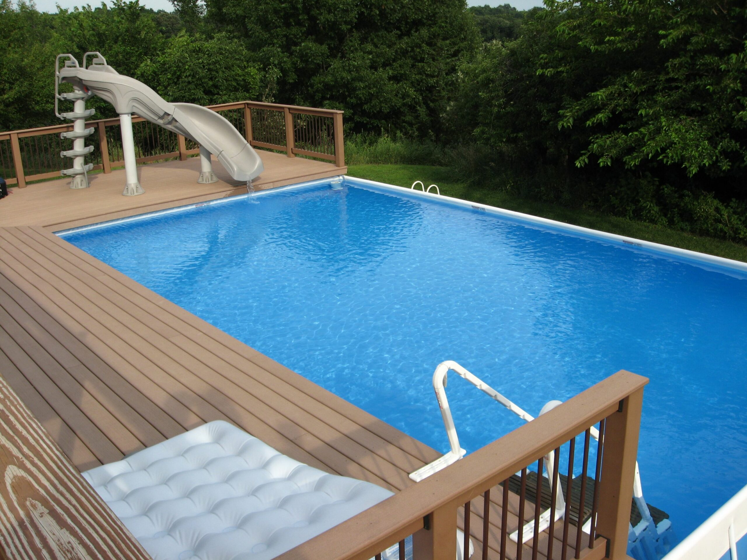 11 Best Above Ground Pools with Decks - pool enhancement ideas