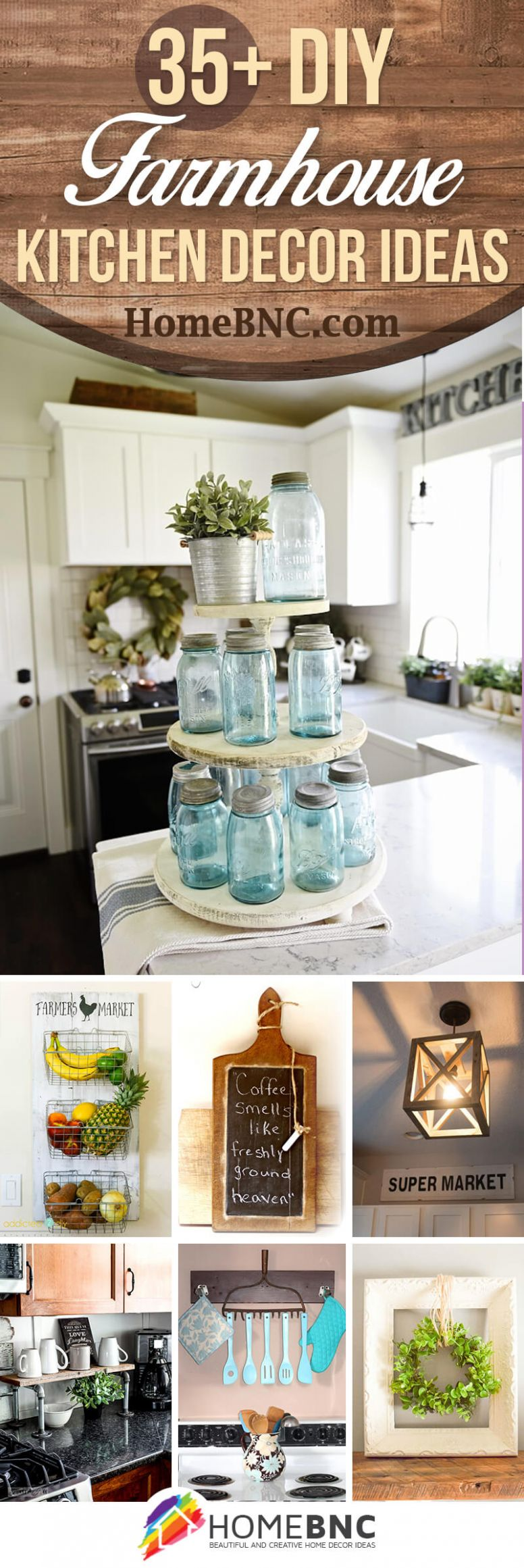 11+ Best DIY Farmhouse Kitchen Decor Projects and Ideas for 11 - kitchen ideas diy