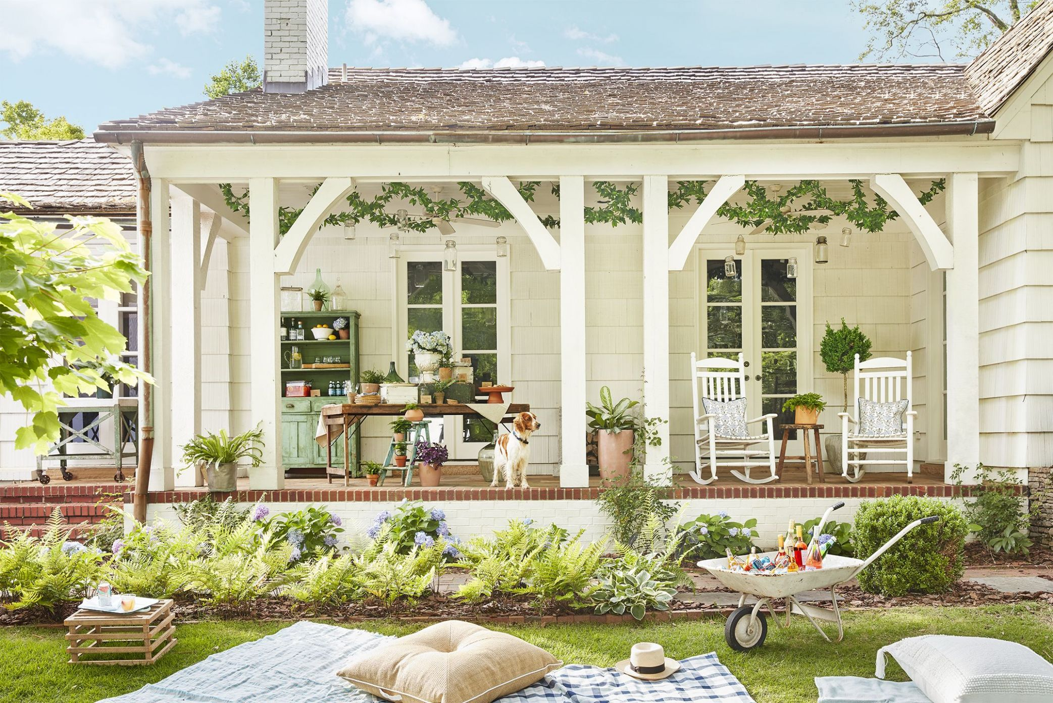 11 Best Front Porch Ideas - Ideas for Front Porch and Patio Decorating - front porch decor lake country