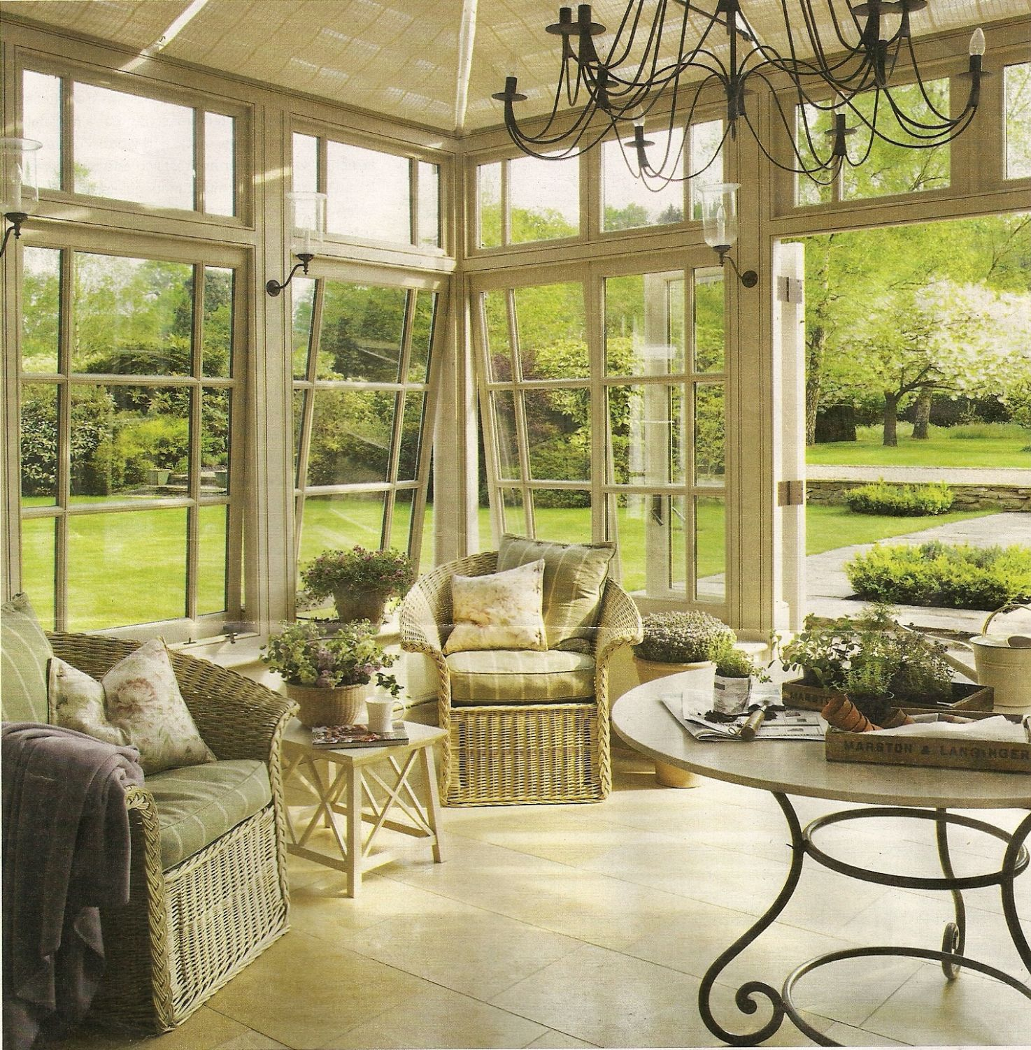 11 Bright Sunrooms That Take Every Advantage of Natural Light - sunroom landscaping ideas