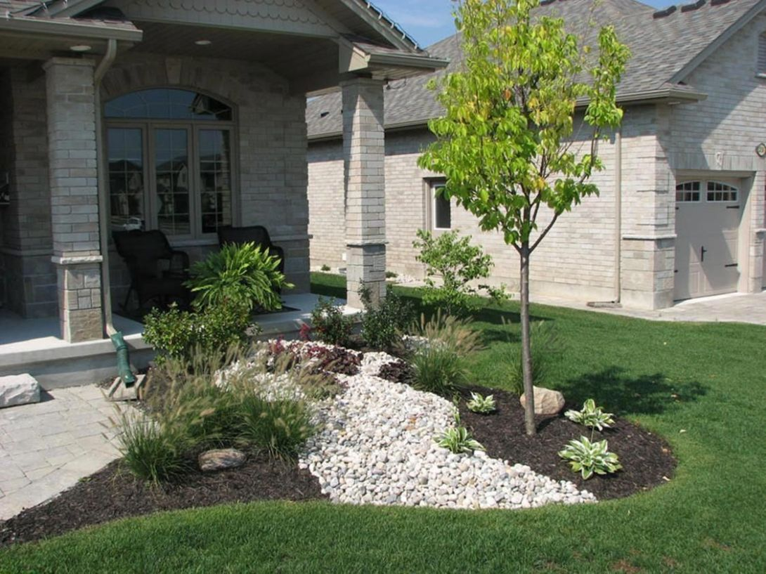 11 Cheap Landscaping Ideas With Rocks And Mulch ..
