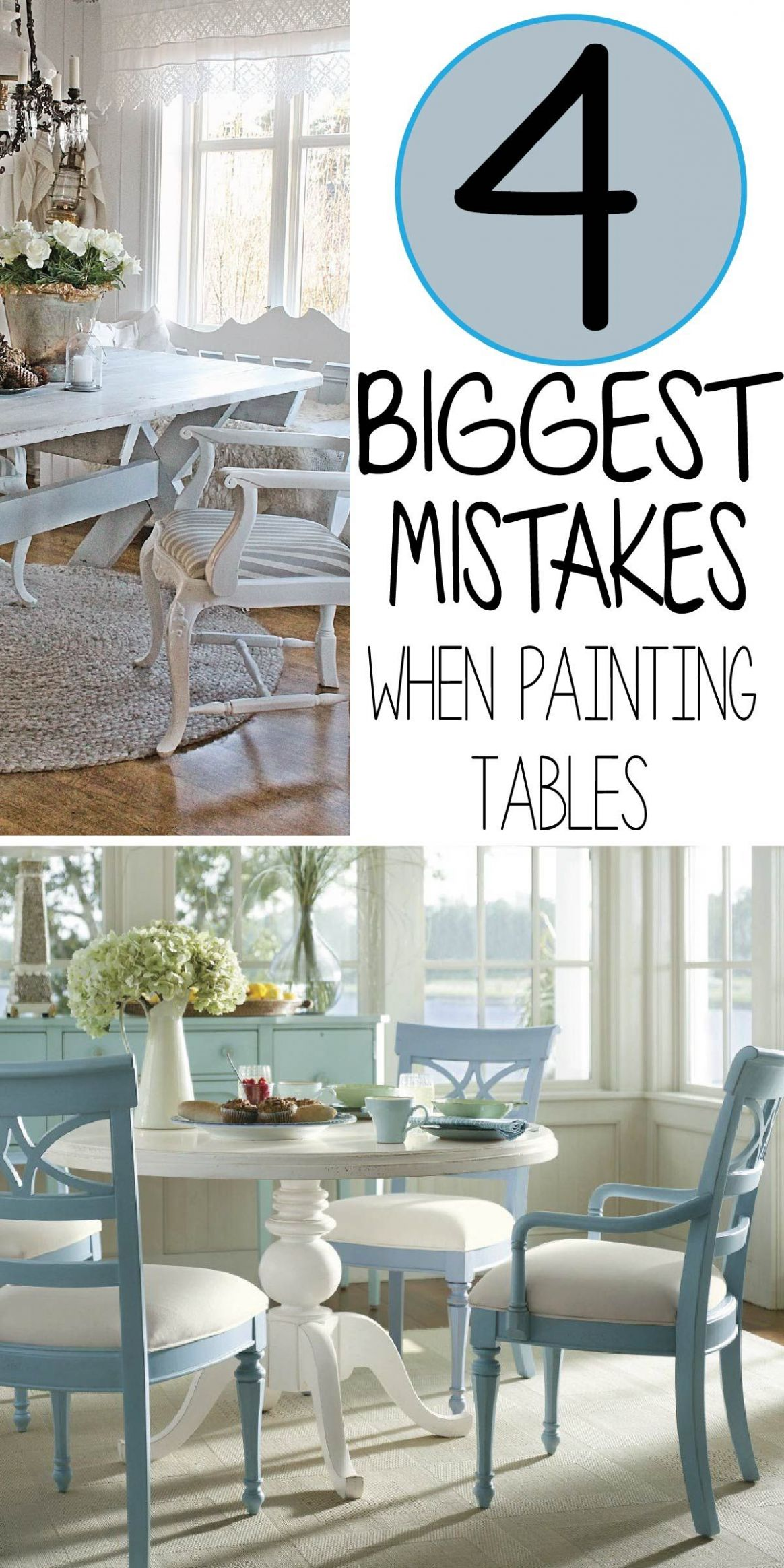 11 Common Mistakes Made Painting Kitchen Tables | Painted kitchen ..