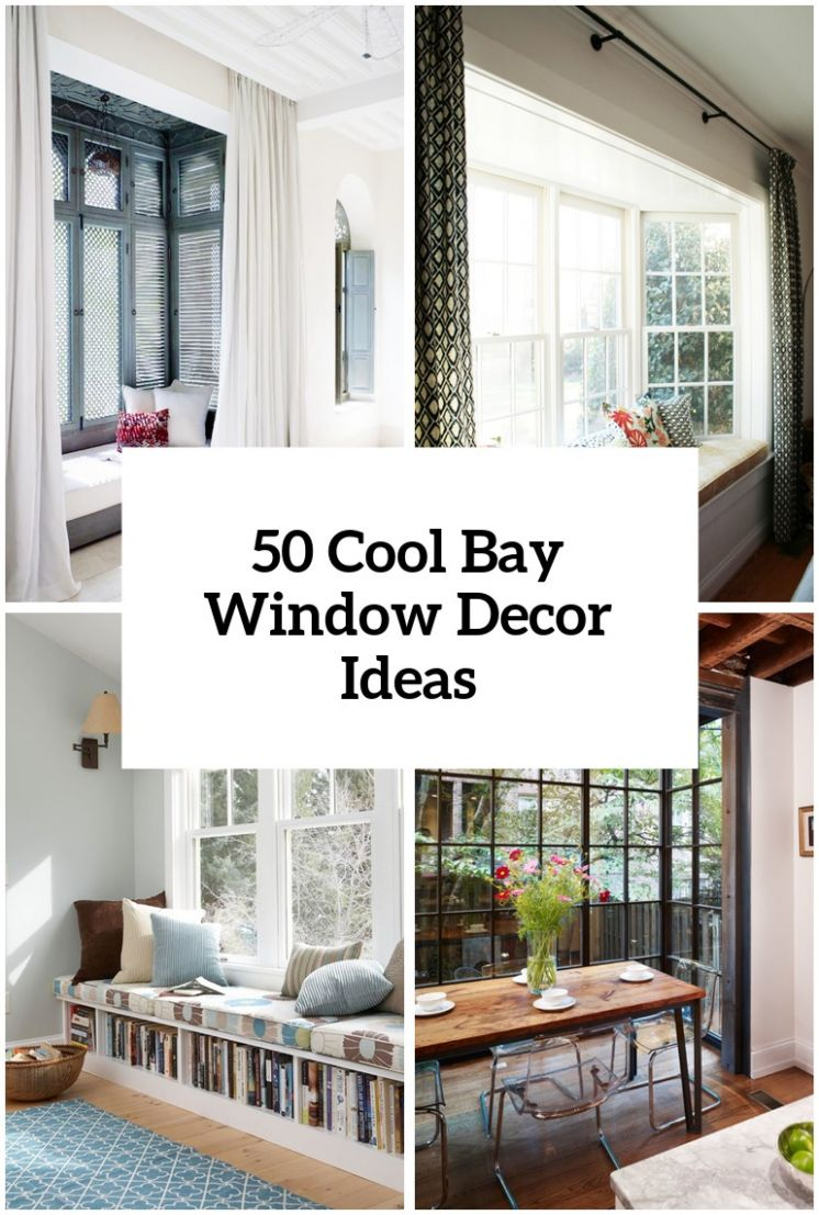 11 Cool Bay Window Decorating Ideas - Shelterness - window ideas home decor