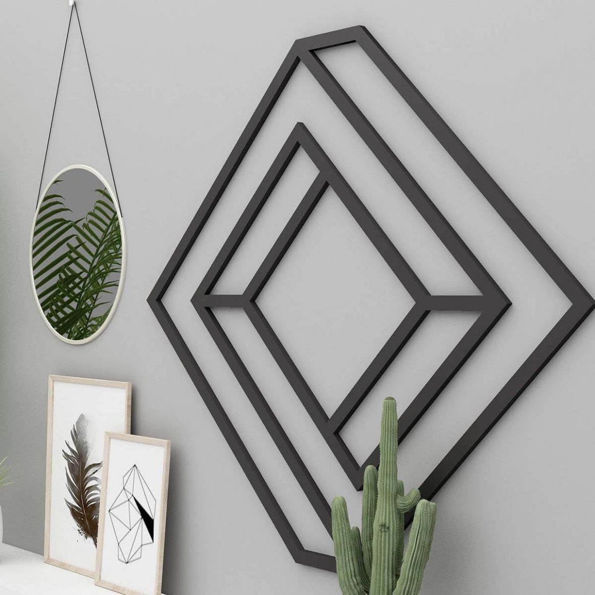11-D Geometric Metal Home Decor Wall Art — Homebnc