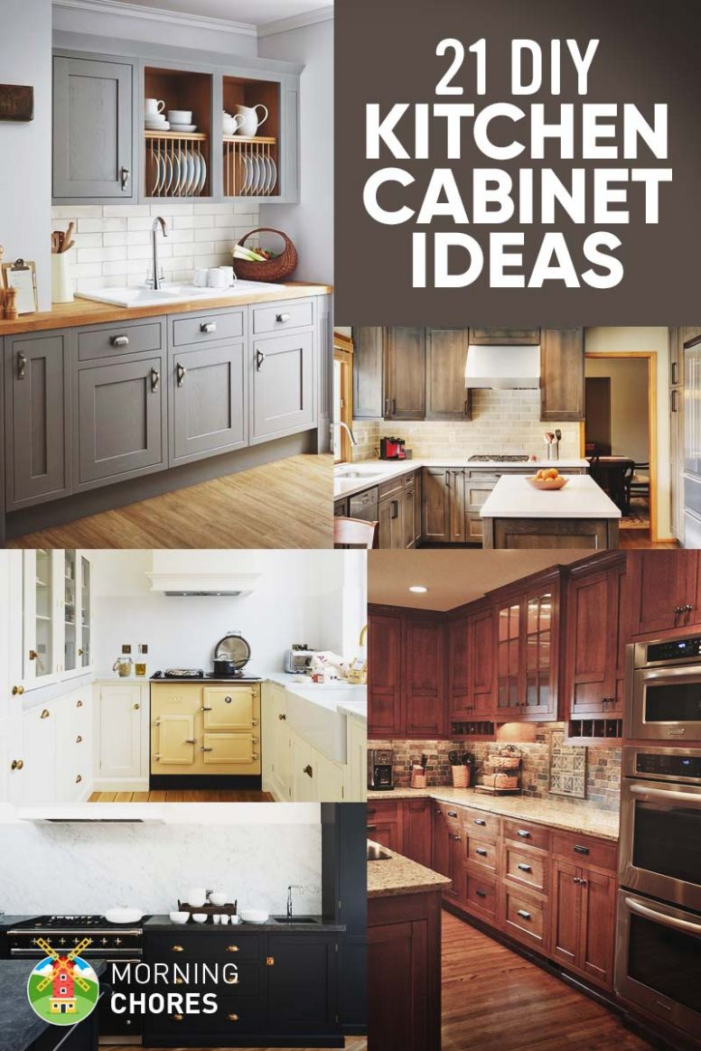 11 DIY Kitchen Cabinets Ideas & Plans That Are Easy & Cheap to Build - kitchen ideas diy