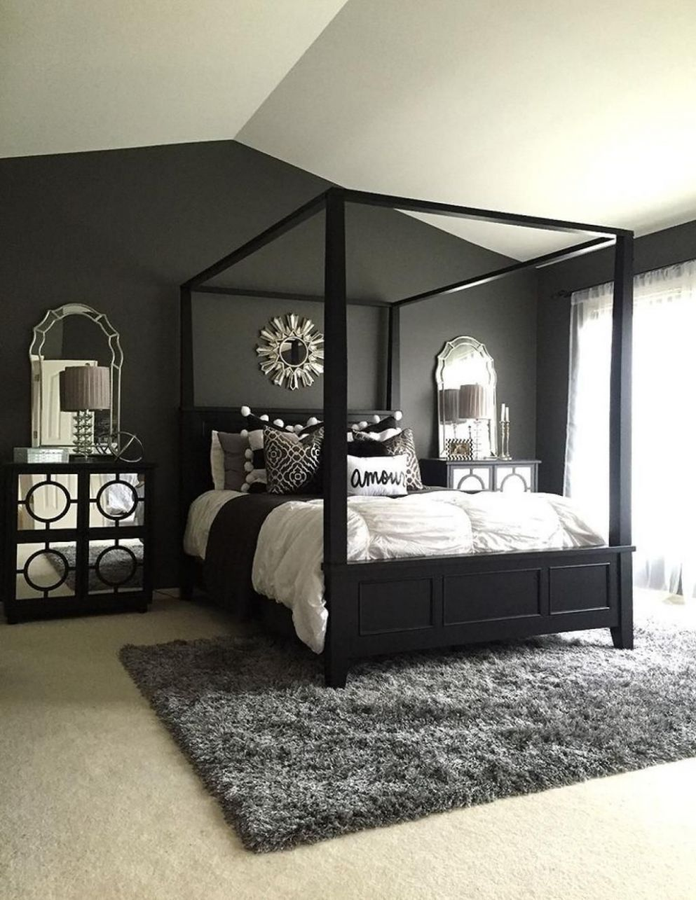 11 Elegant Black Bedroom Decorating Ideas | Black master bedroom ..